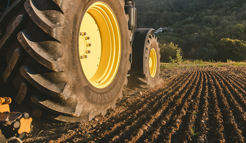 agricultural tyres optimised and managed to make them last
