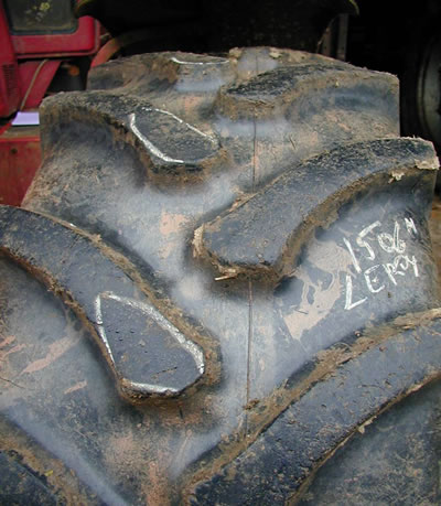 regular and fast tire wear