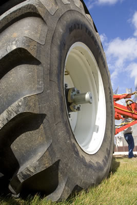 Tractor tyre, load capacities