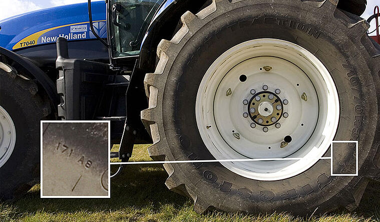 Tractor tire load index