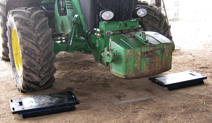 ballasting of the agricultural tractor