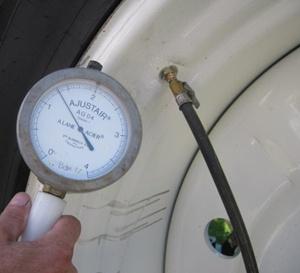 Incorrect tyre pressure