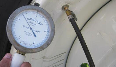 agricultural tyre pressure adjustment