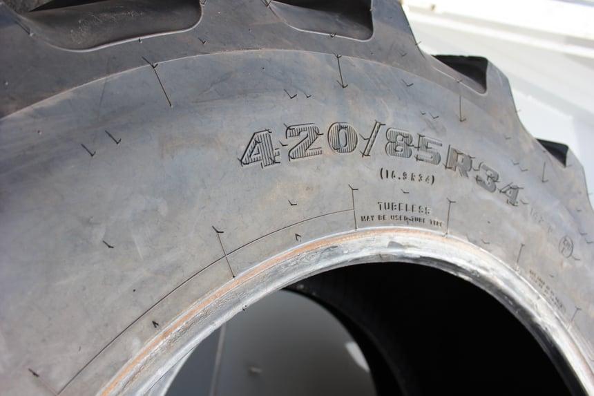 Tractor tyre marking